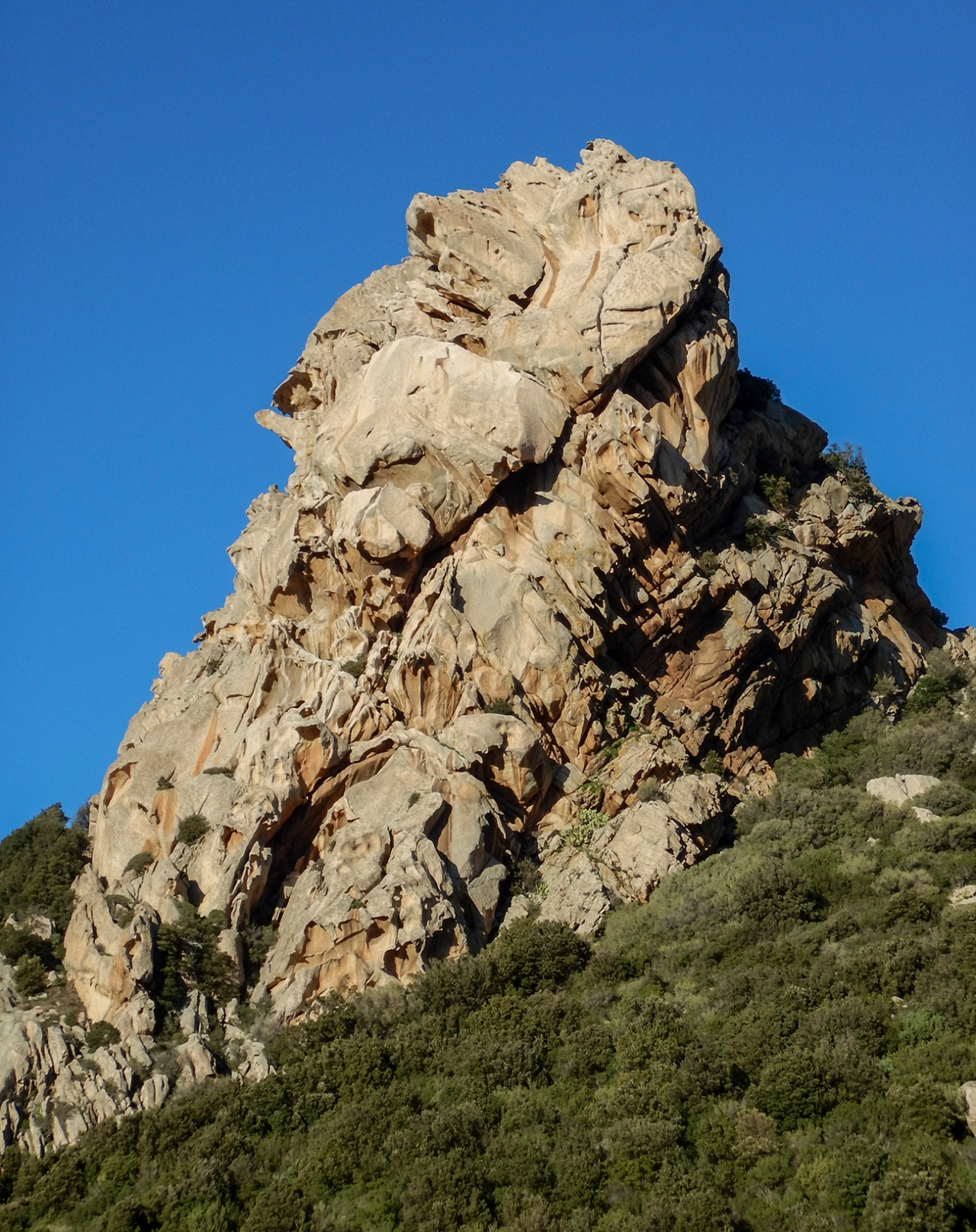 Balba Cana, a granite peak near San Pantaleo