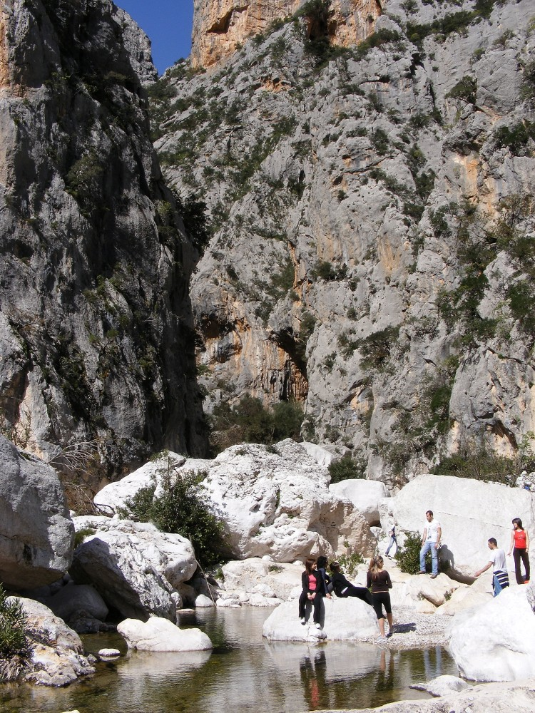 The entrance of the canyon