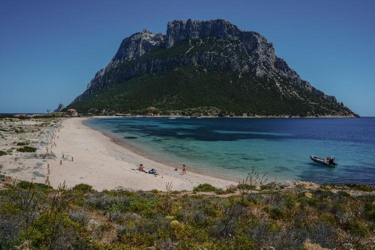 Tavolara, the beach