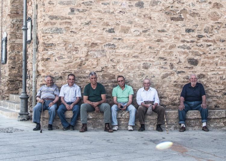 Men meeting in Armungia