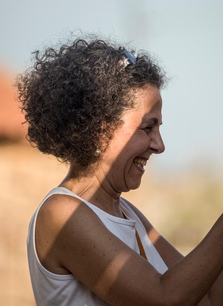 Roberta Milia weaving in Armungia
