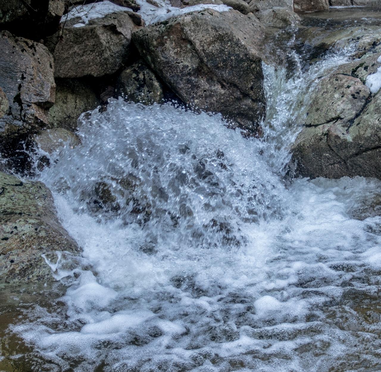 Water spashing