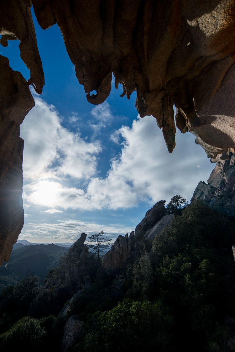 Cave in granite