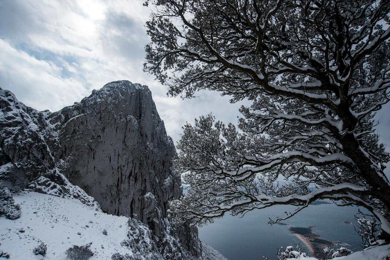 Snow on Tavolara